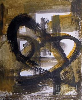 Strong Heart - abstract sepia tones  by Vesna Antic