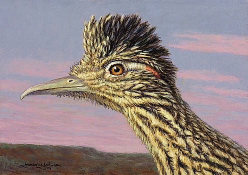 Study of a Roadrunner by James W Johnson