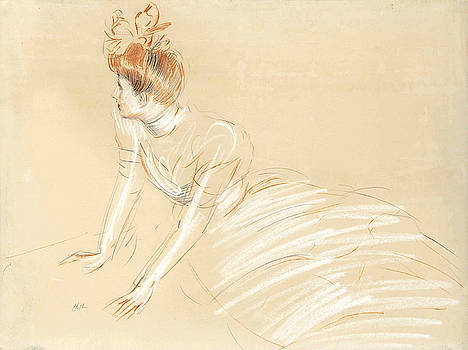 Study of a Woman Turning Away by Paul Cesar Helleu