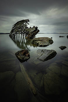 Sturgeon Bay Shipwreck in November Gloom by Jakub Sisak