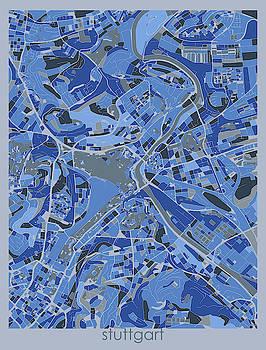 Stuttgart Map Retro 5 by Bekim M