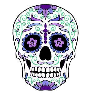 Sugar Skull Day of the Dead Da de Muertos Alfeniques by Swigalicious Art