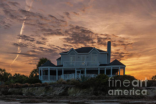 Sullivan's Island Sunset Home by Dale Powell