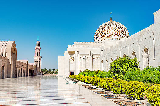 Sultan Qaboos Grand Mosque In Muscat by Richard Yoshida
