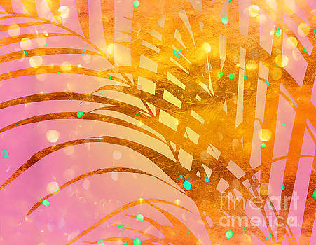Tina Lavoie - Sultry Summer Sun Golden Tropical Palm Fronds