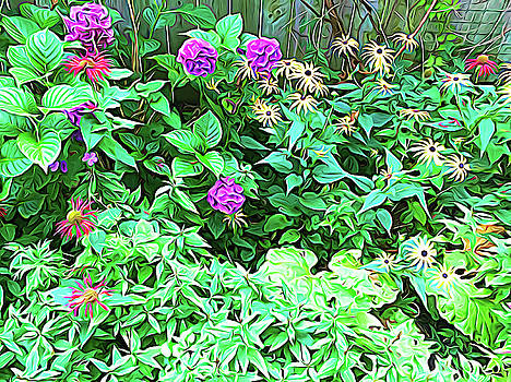 Aimee L Maher ALM GALLERY - Summer Garden Expressionalism