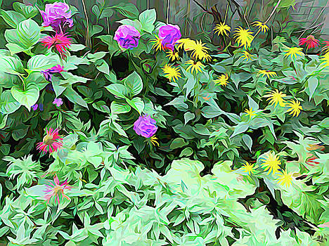 Aimee L Maher ALM GALLERY - Summer Garden Melting Colors