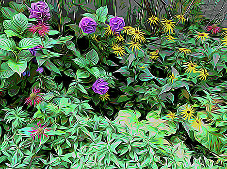 Aimee L Maher ALM GALLERY - Summer Garden Omy Graphic
