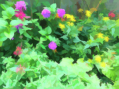 Aimee L Maher ALM GALLERY - Summer Garden Painterly