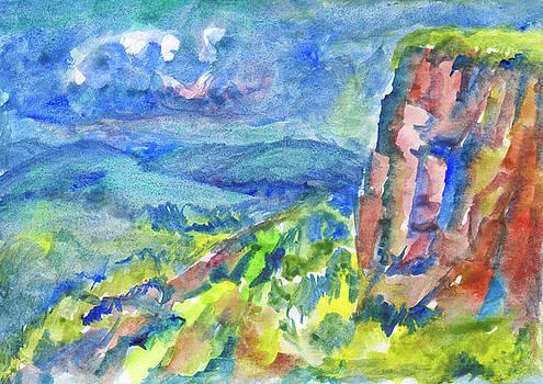Summer landscape with cliff by Irina Dobrotsvet