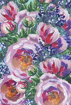 Irina Sztukowski - Summer Pattern Flowers Bouquet Floral Impressionism