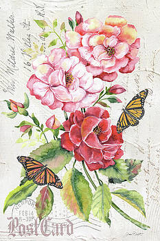 Summer Rose Postcard A by Jean Plout