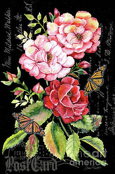Summer Rose Postcard B by Jean Plout