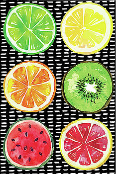 Summer Sweetness Fruits by Nd Art