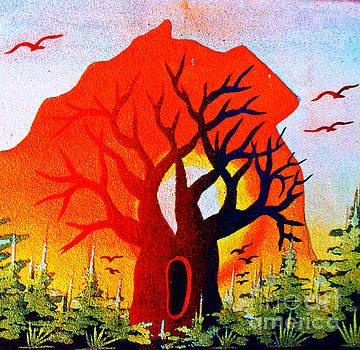 Sun Down Baobab by Fania Simon