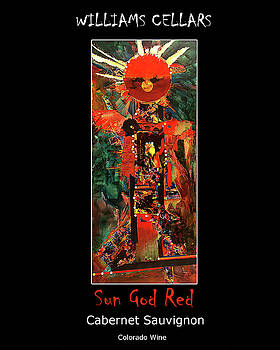 Sun God Red Wine Label by Williams Cellars