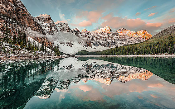 Sun-Kissed Peaks by Hamish Mitchell