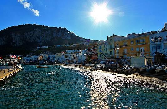Sun Over the Isle of Capri by Catie Canetti
