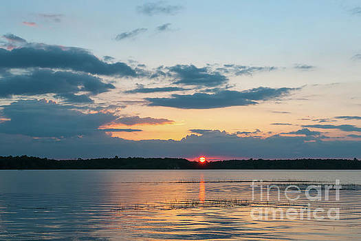 Dale Powell - Sun Setting over the Wando River in Charleston County