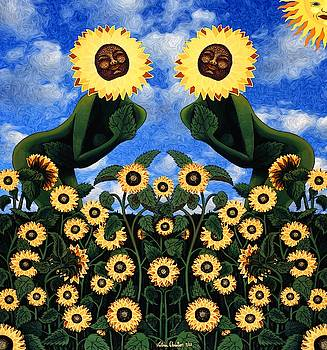 Sunflower Goddesses  by Victoria Christian