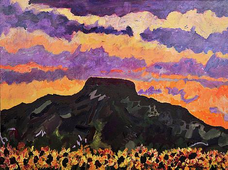 Sunflower, Sunset, Tucumcari Mt by Karyn Drum