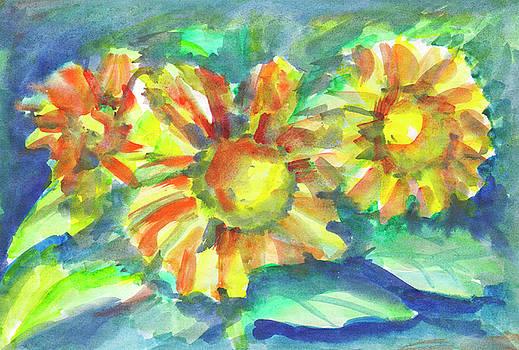Sunflowers at dusk by Irina Dobrotsvet