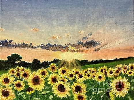 Sunflowers Rise by Boni Arendt