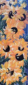 Sunflowers Tall and Skinny Vertorama by Eloise Schneider Mote