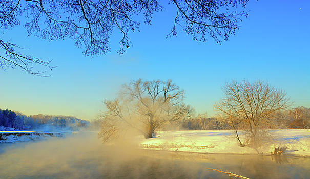 Sunny day on the river, early spring, Russia by Yuri Hope