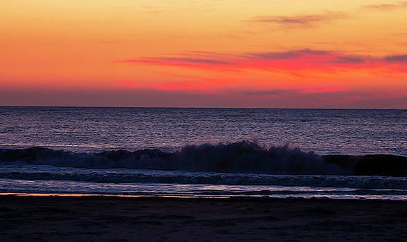 Sunrise at Brigantine New Jersey by Sharon Mayhak