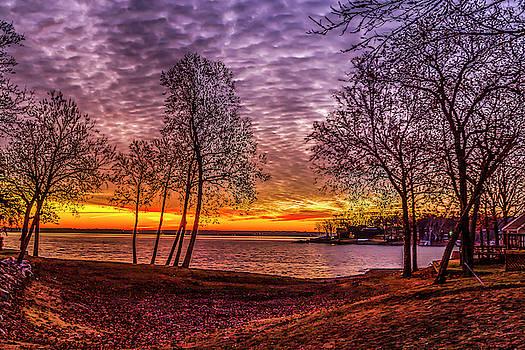 Sunrise at East Bay by David Wagenblatt