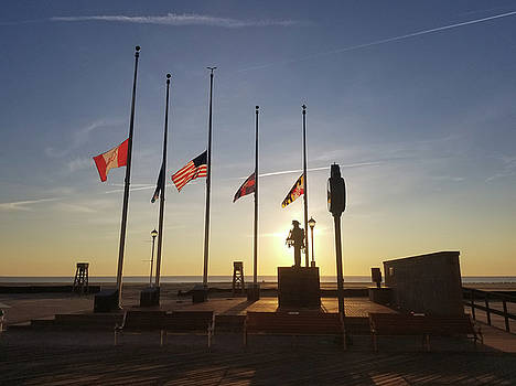 Sunrise at Firefighter Memorial by Robert Banach