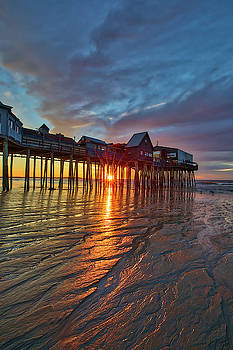 Sunrise at Old Orchard Beach with its iconic Pier by Juergen Roth
