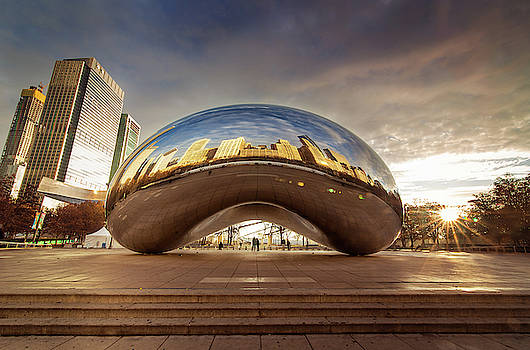 Sunrise at the Bean by Jackie Novak