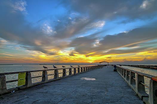 Pier Sunrise at Cabrillo Beach San Pedro California by R Scott Duncan