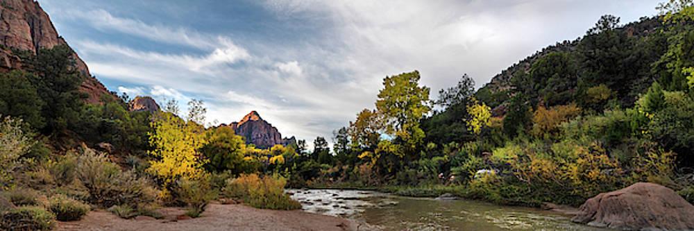 Brian Harig - Sunrise At The Watchman 3 Panorama - Zion National Park - Utah