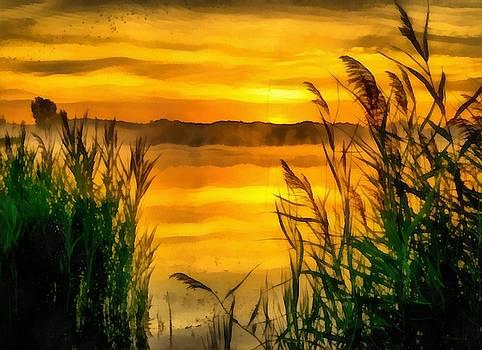 Sunrise Creek by Harry Warrick