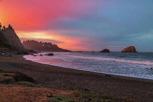Sunrise in False Klamath Cove by Peter Tellone