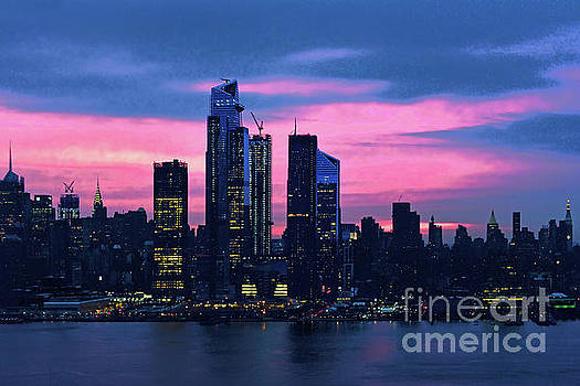 Regina Geoghan - NYC Sunrise Pink and Blue