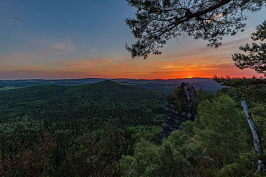 Sunrise in Saxon Switzerland by Andreas Levi