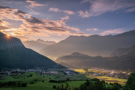 Sunrise in the Alps by Ludwig Riml