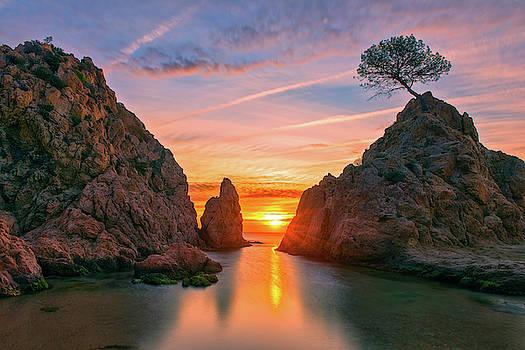 Sunrise in the village of Tossa de Mar, Costa brava by Vicen Photography