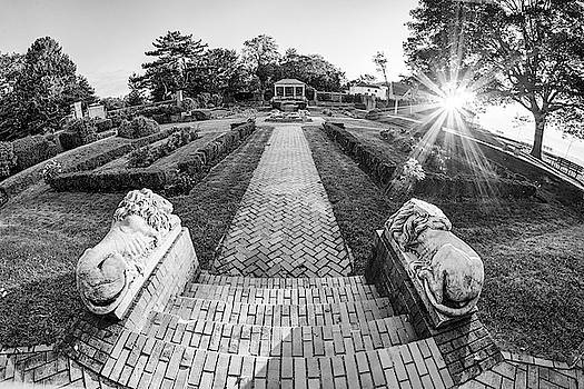 Toby McGuire - Sunrise on Lynch Park Beverly MA Black and White