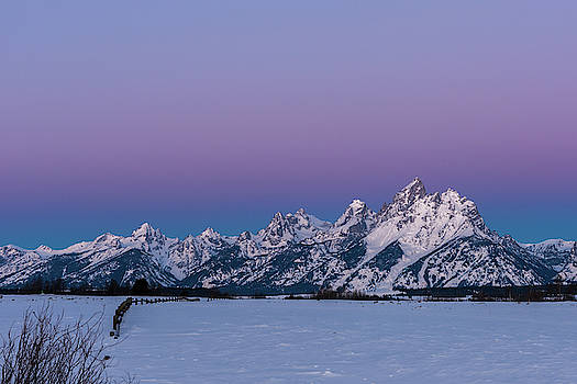 Sunrise on the Tetons by Barbara Hayton