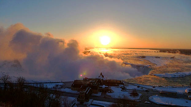 Sunrise Over Niagara Falls in Winter by Chris Gill