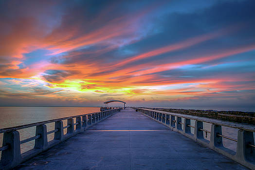Sunrise at Cabrillo Pier San Pedro California by R Scott Duncan