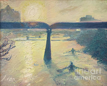 Felipe Adan Lerma - Sunrise Rowers on Lady Bird Lake Austin