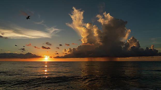 Sunrise Storm Soaring Delray Beach Florida by Lawrence S Richardson Jr