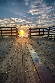 Sunrise Walkway by Dillon Kalkhurst