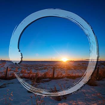 Sunrise Zen Circle by Tin Tran
